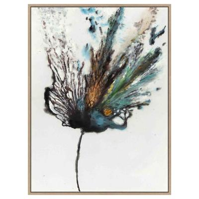 Abstact Flowery E in. x plosion by Unknown Artist Framed Canvas Wall Art
