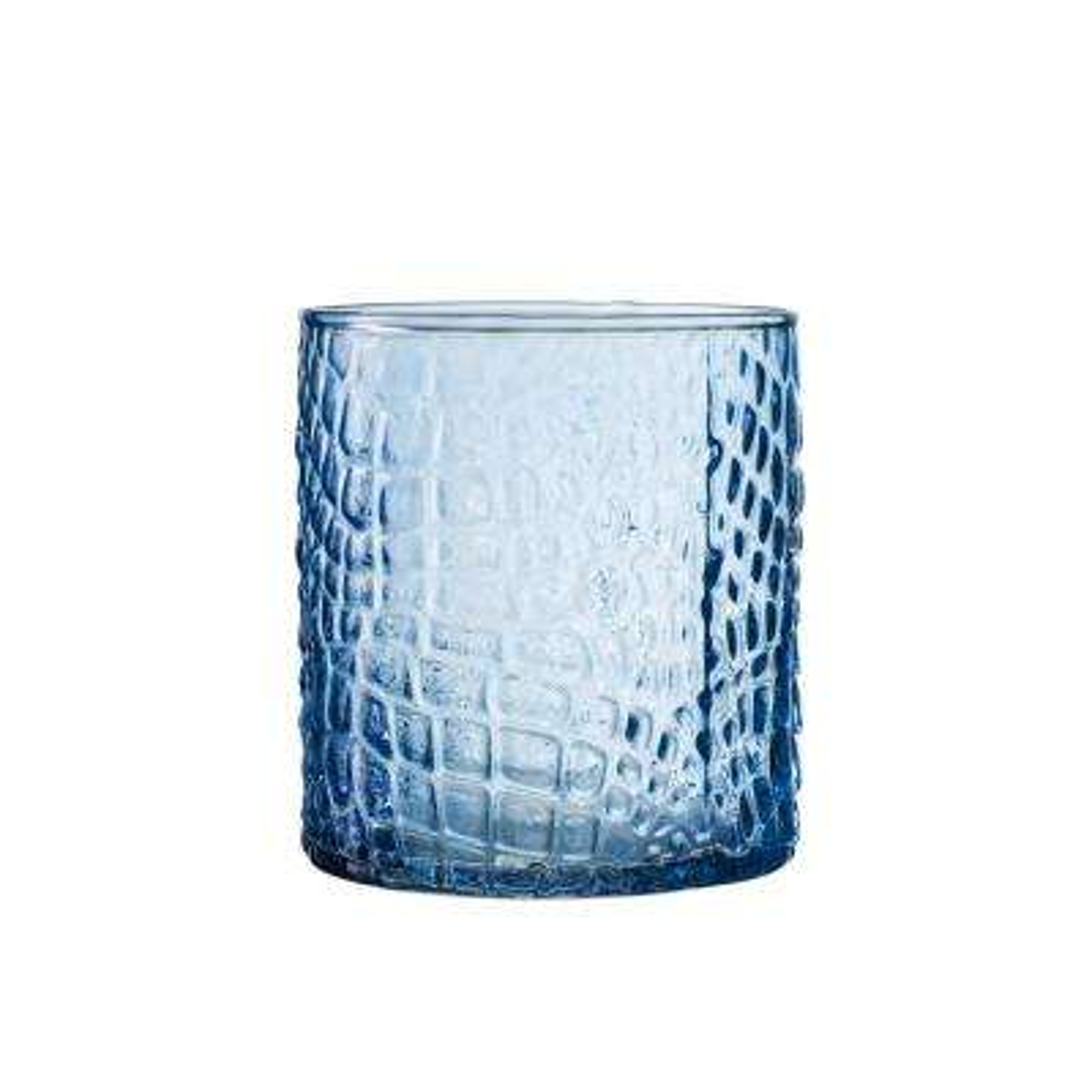 Bistro Croc Blue 4-Piece Old Fashion Glasses Set