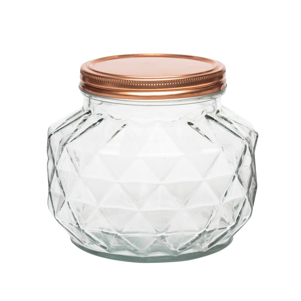 Dakota 56 oz. Glass Canister with Copper Lid