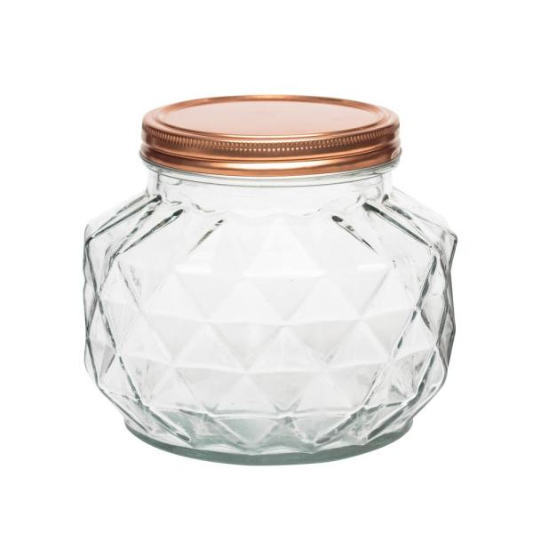 Amici Home Dakota 56 oz. Glass Canister with Copper Lid 7CN601R