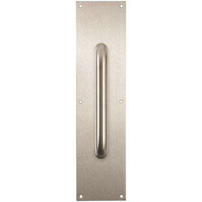 Incroyable Satin Chrome Beveled Pull Plate