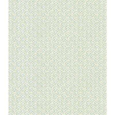 Destinations by the Shore Green Shell Wallpaper Sample