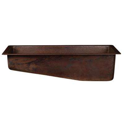Dual Mount Hammered Copper 28 in. Slanted Single Bowl Kitchen/Bar/Prep Sink in Oil Rubbed Bronze