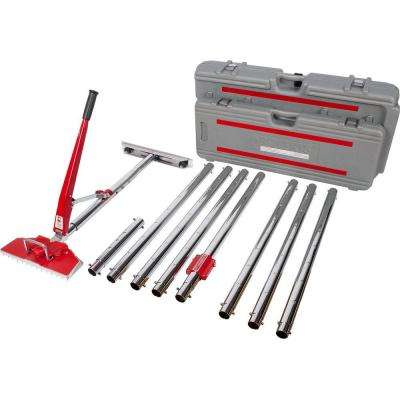 Power-Lok Carpet Stretcher with 17 Locking Positions and 18 in. Tail Block with Wheels Value Kit
