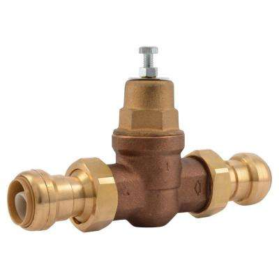 1 in. Bronze EB-45 Double Union Push-to-Connect Pressure Regulating Valve