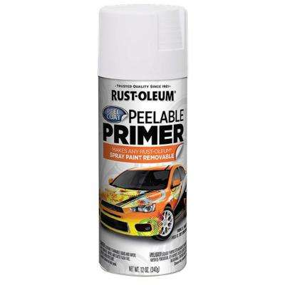 12 oz. Peel Coat White Peelable Primer Spray (6-Pack)