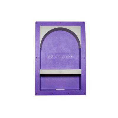 14 in. x 22 in. x  4 in. Large Rectangular Niche with Arch and Shelf Set