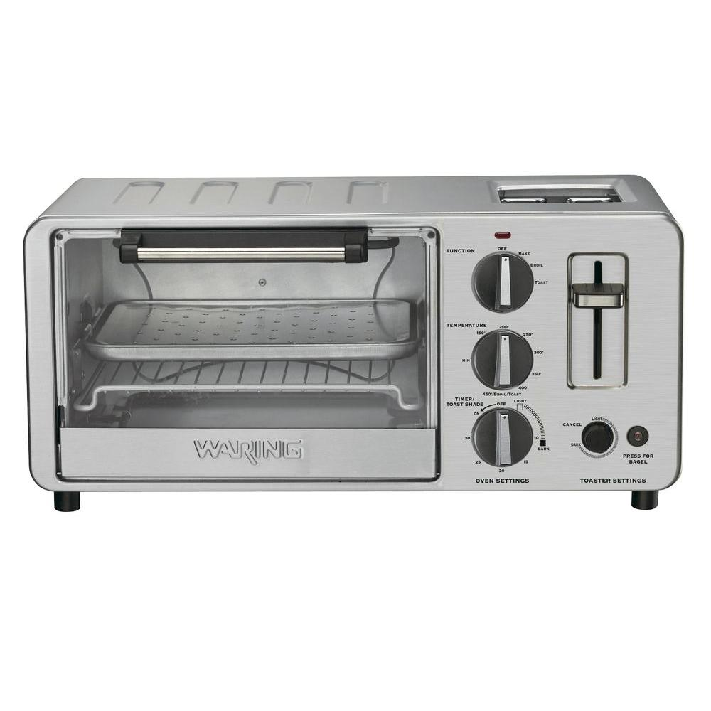 Waring Pro Countertop Toaster Oven and Toaster in Stainless Steel