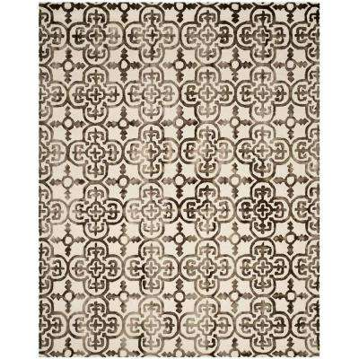 Dip Dye Ivory/Brown 9 ft. x 12 ft. Area Rug