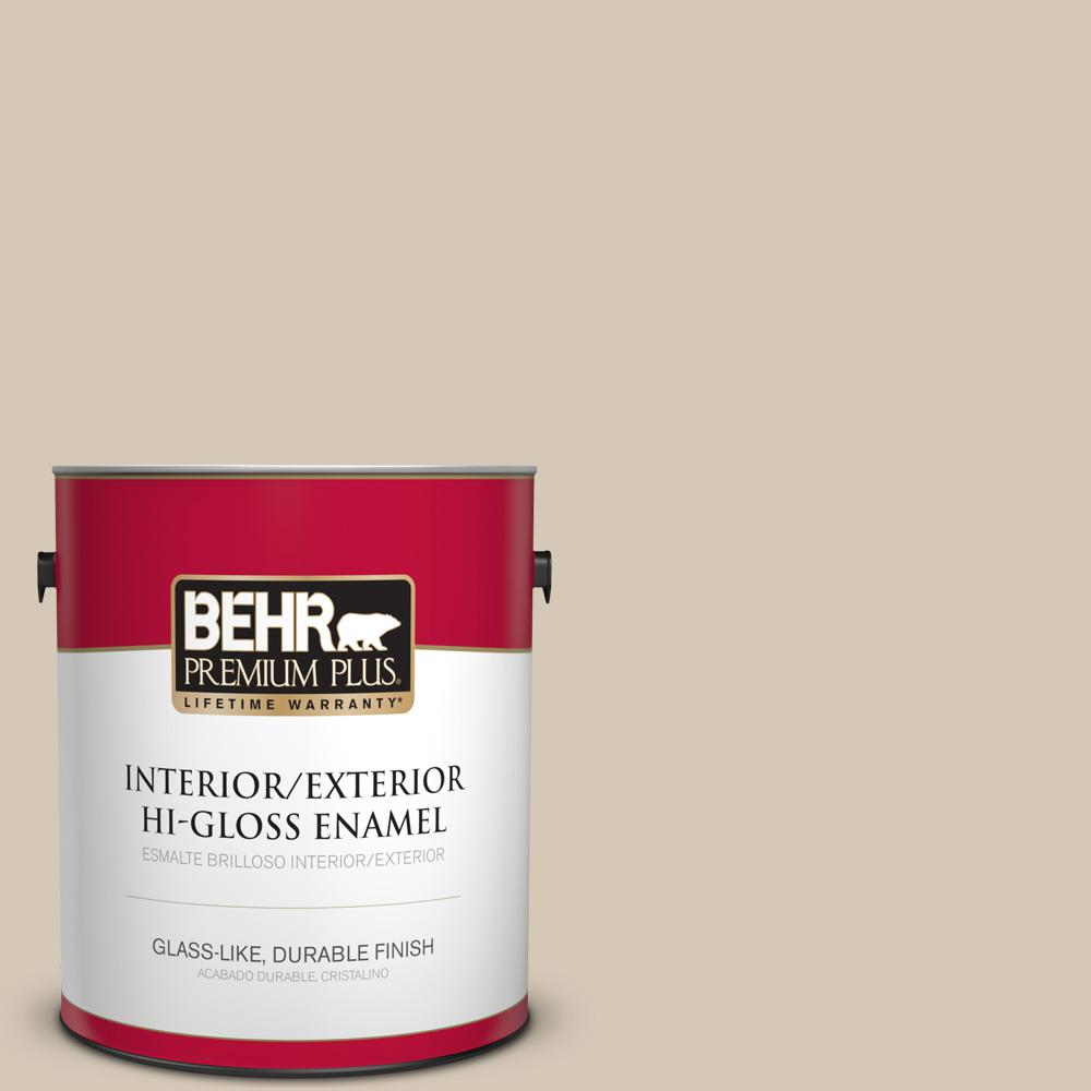 1 gal. #MQ3-10 French Beige Hi-Gloss Enamel Interior/Exterior Paint