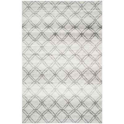 Adirondack Silver/Charcoal 6 ft. x 9 ft. Area Rug