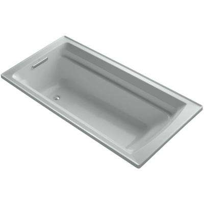 Archer VibrAcoustic 6 ft. Reversible Drain Bathtub in Ice Grey with Bask Heated Surface
