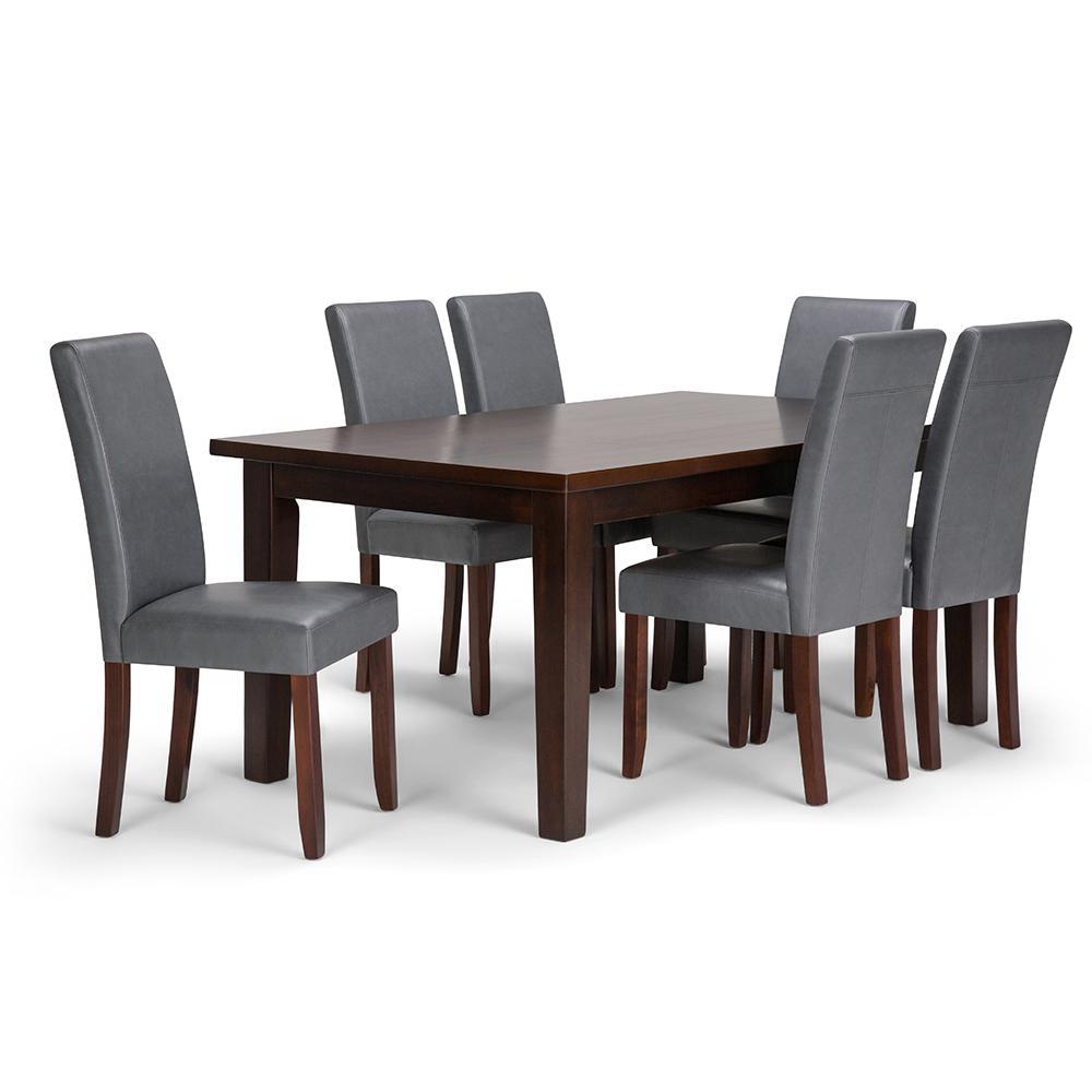 Acadian 7-Piece Stone Grey Dining Set
