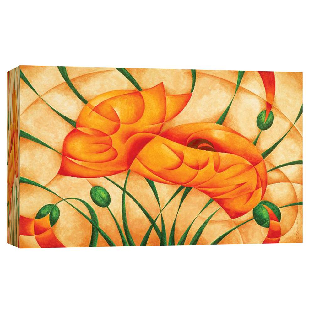 PTM Images 10.in x 12.in \'\'Poppies III\'\' Printed Canvas Wall Art-9 ...