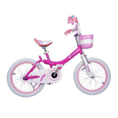 Bunny Girl's Bike, 18 inch wheels w/basket gifts for kids, girls' bicycles, Fuchsia