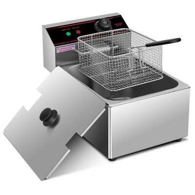 6.3 qt. Silver Deep Fryer with Multiple Safety