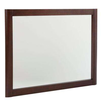 Madeline 31.4 in. W x 25.7 in. H Framed Wall Mirror in Chestnut