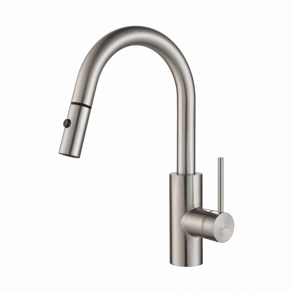Oletto Single-Handle Pull-Down Kitchen Faucet with Dual-Function Sprayer in