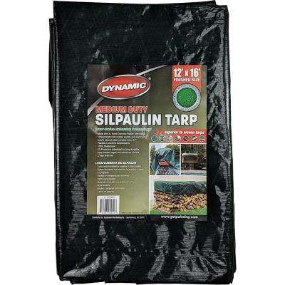 12 ft. x 16 ft. Dark Green Medium Duty Silpaulin Tarp