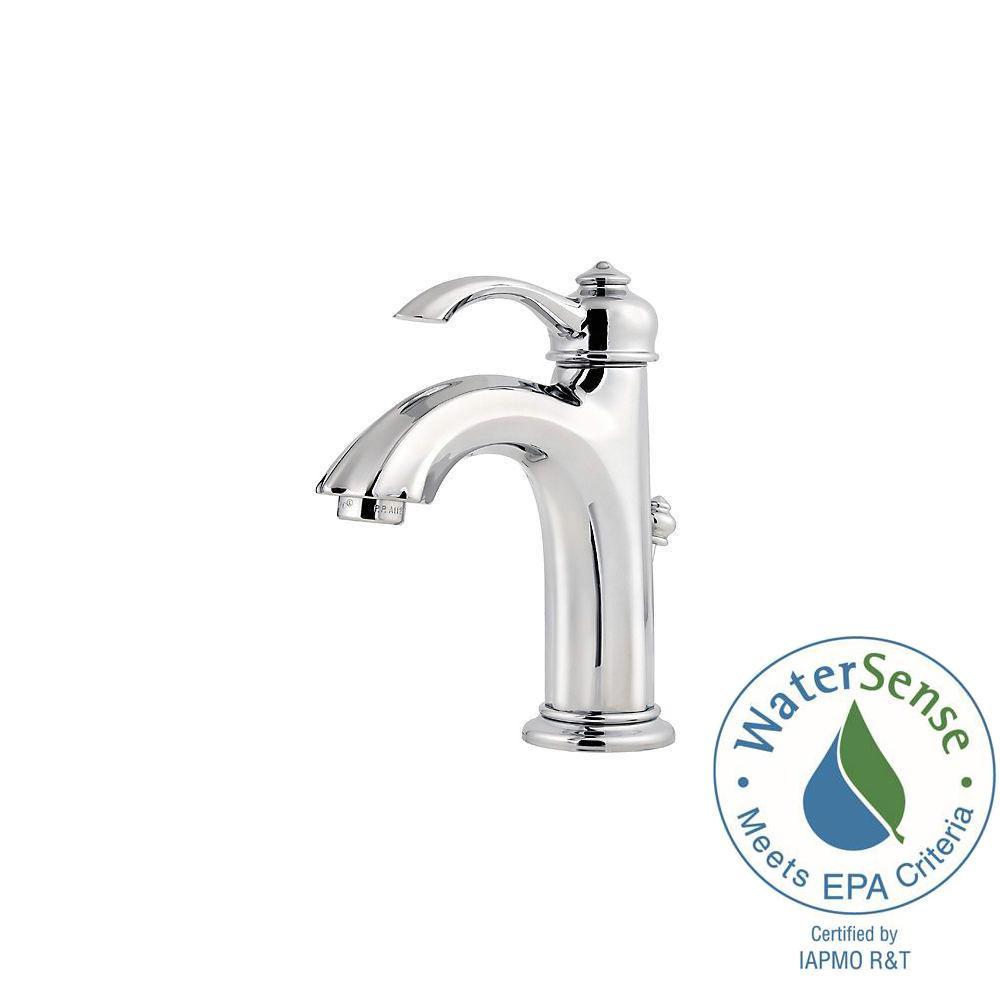 Pfister Portola 4 in. Centerset Single-Handle High-Arc Bathroom Faucet in Polished Chrome
