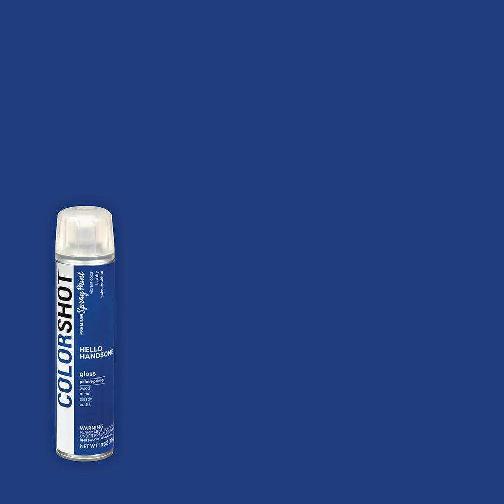COLORSHOT 10 oz. Gloss Hello Handsome Royal Blue General Purpose Aerosol Spray Paint