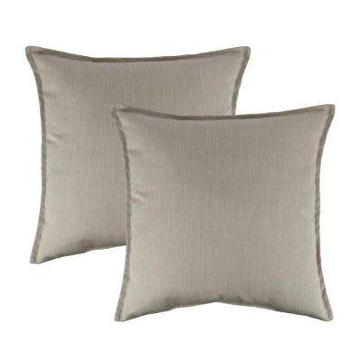 Canvas Flax 20 in. Outdoor Pillow (set of 2)
