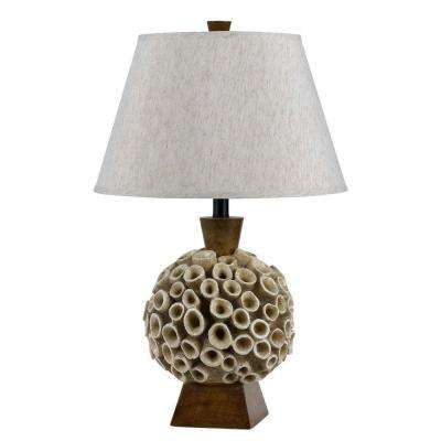 25.5 in. Rockwood Amber Coral Table Lamp