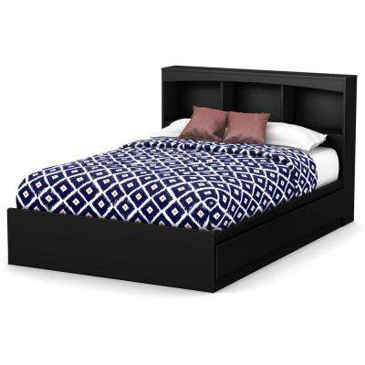 Step One 3-Drawer Pure Black Full-Size Storage Bed