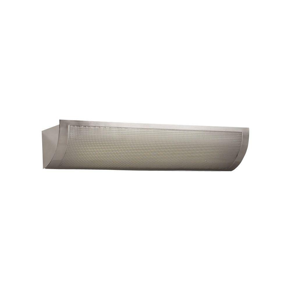 PLC Lighting 1-Light Satin Nickel Bath Vanity with Acid Frost Glass