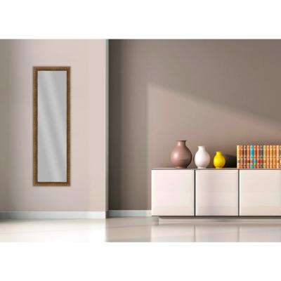51.875 in. x 15.875 in. Dark Gold Framed Mirror