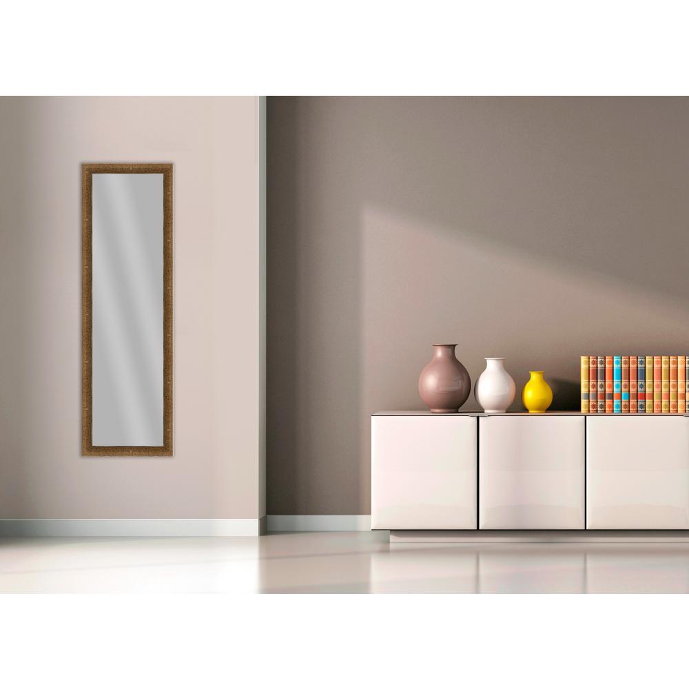 51.875 in. x 15.875 in. Dark Gold Framed Mirror