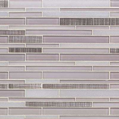 Midtown Sense Textile Taupe Brick Joint 11 7/8 in. x 12 5/8 in. Polished Marble Mosaic Tile