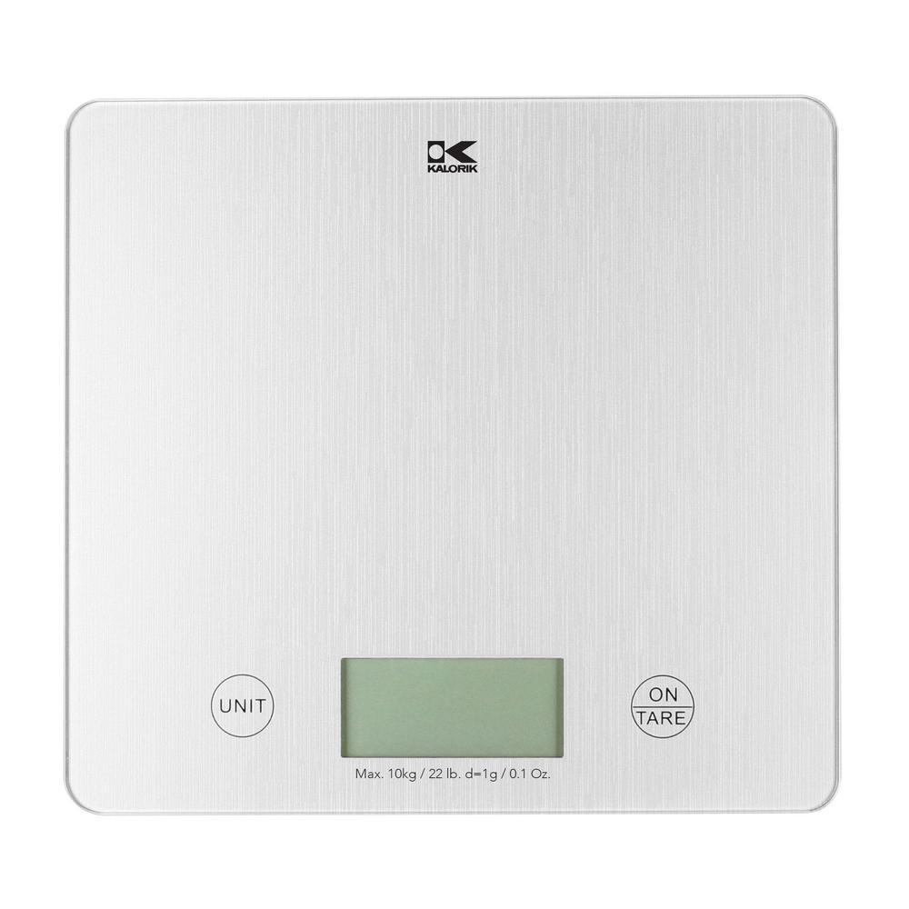 XL Digital Kitchen Scale in Silver