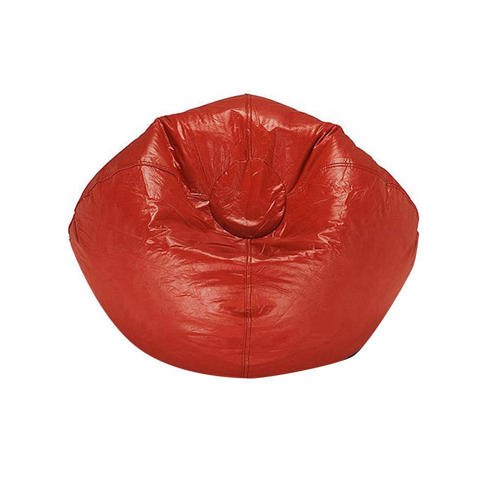 9eca8a0b63 Ace Casual Furniture Red Vinyl Bean Bag-9800301 - The Home Depot
