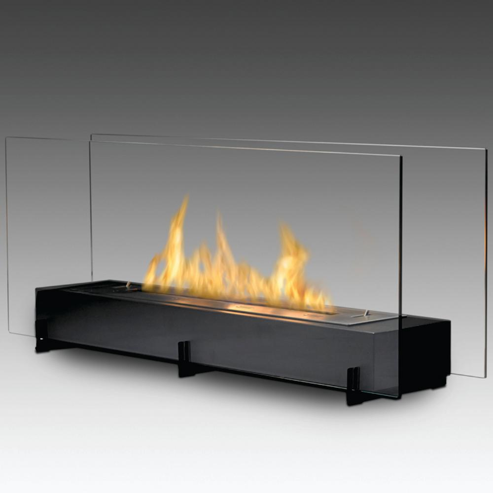 vision ii 38 in ethanol free standing fireplace in matte black ws rh homedepot com