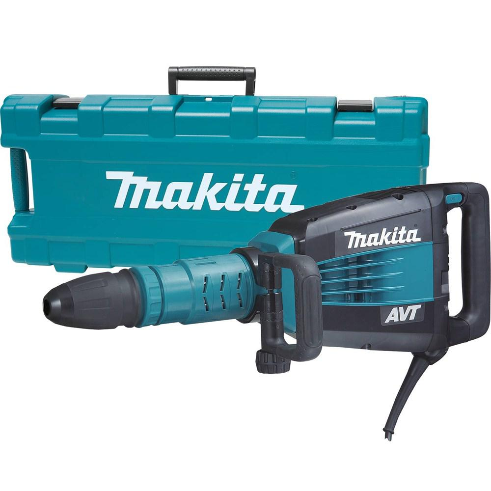 Makita 14 Amp 27 Lb Avt Demolition Hammer With Case