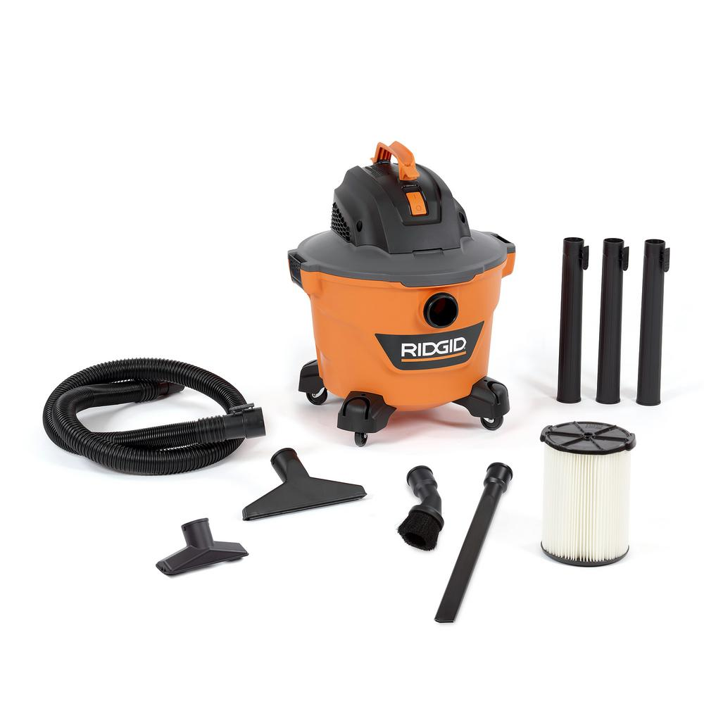 RIDGID 9 Gal. 4.25-Peak HP NXT Wet/Dry Shop Vacuum with Filter, Hose, 3 Extension Wands and 4 Accessories, Oranges/Peaches was $72.94 now $57.97 (21.0% off)