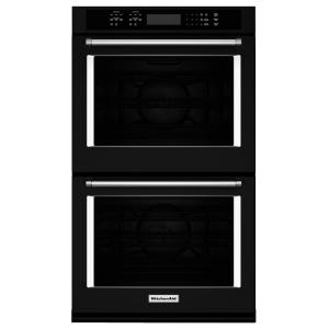 KitchenAid 30 In. Double Electric Wall Oven Self Cleaning With Convection  In Black KODE500EBL   The Home Depot