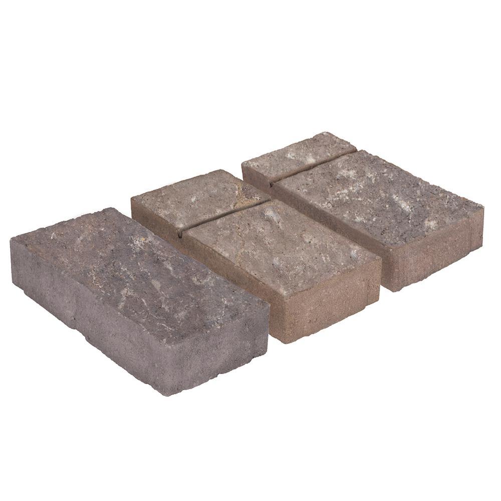 Domino 11.75 in. x 6 in. x 2.25 in. Ashbury Haze Beige/Gray Concrete Paver (240 Pieces / 120 sq. ft. / Pallet)