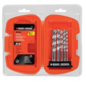 Black & Decker Bullet Carbide Tipped Masonry Drill Bit Set (5-Piece) by BLACK+DECKER