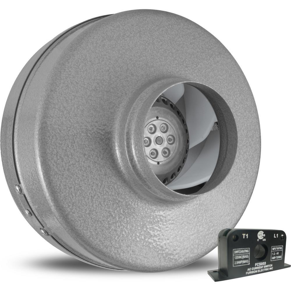 Vortex Powerfan 4 in. 220 CFM Inline Fan with Current Sensor
