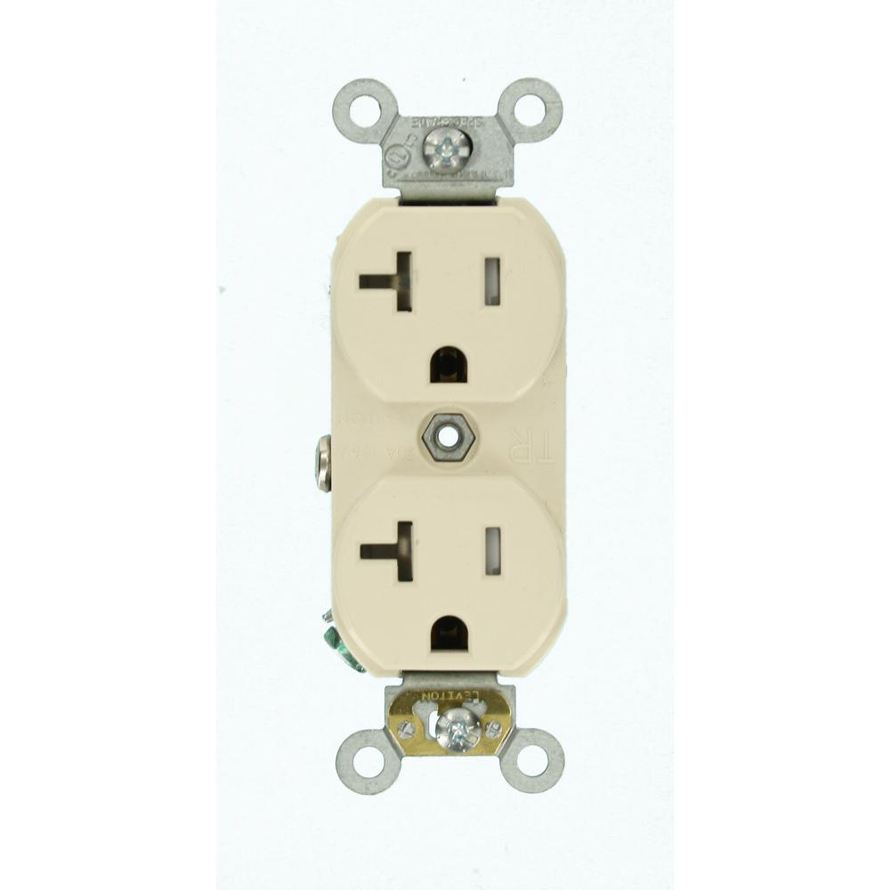Light Almond Leviton Electrical Outlets Receptacles Tcr T on Standards For Nema Receptacles