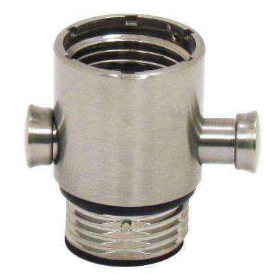 Pause/Trickle Adapter for Hand-Held Showers in Brushed Nickel