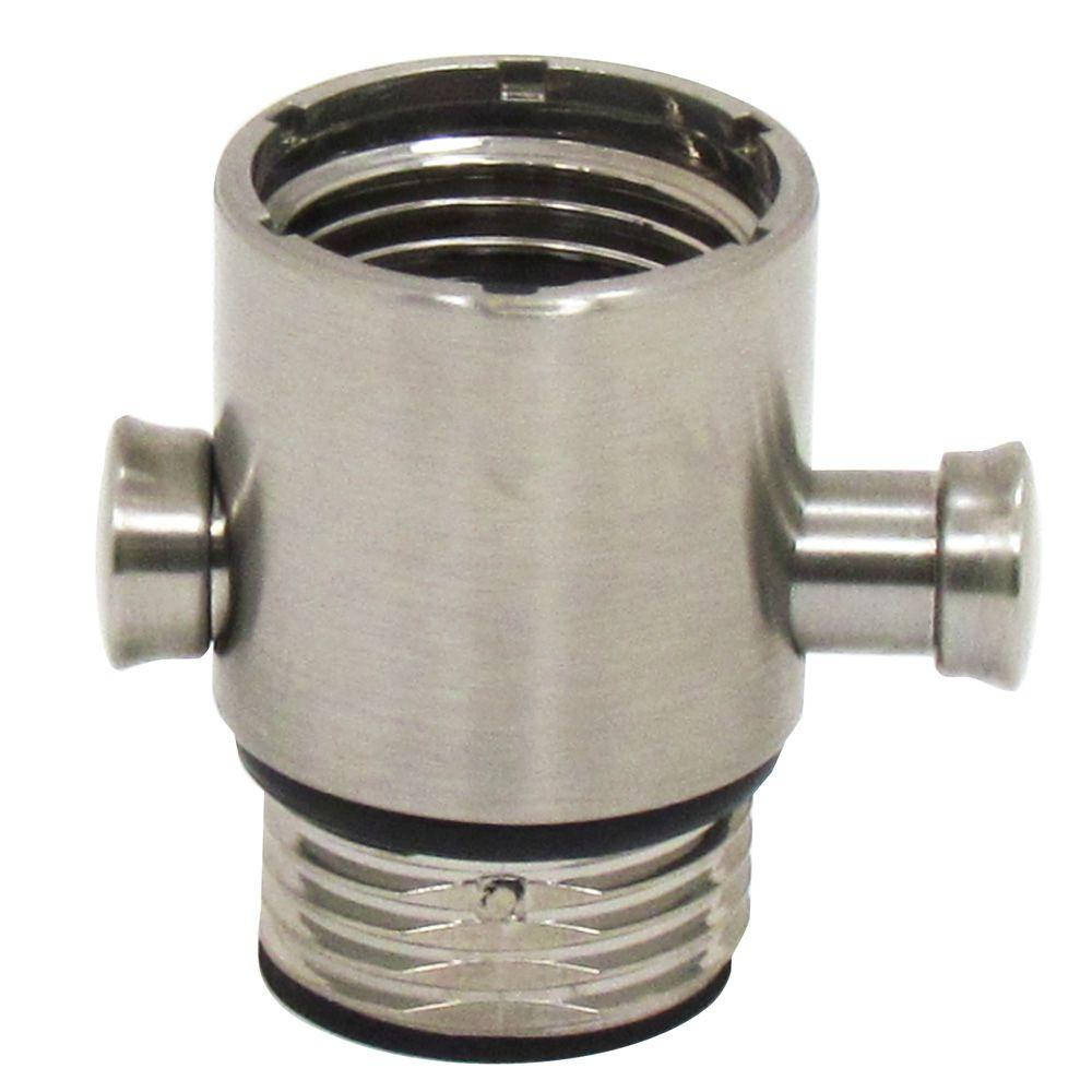 Pause/Trickle Adapter For Hand Held Showers In Brushed Nickel