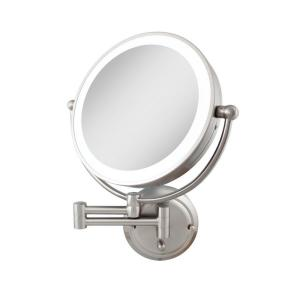 Sharper Image 10 In X 11 In Single Led Lighted Wall Makeup Mirror