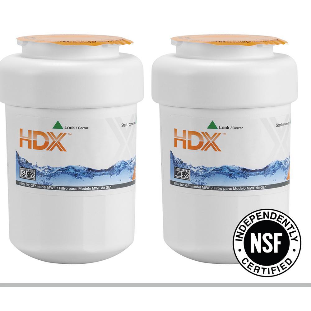 Water Filter for GE Refrigerators (Dual Pack)
