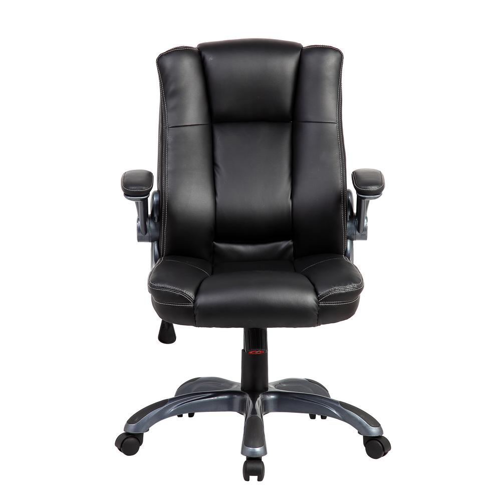 Techni Mobili Black Medium Back Executive Office Chair With Flip Up Arms