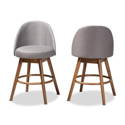 Carra 38 in. Gray Counter Stool (Set of 2)