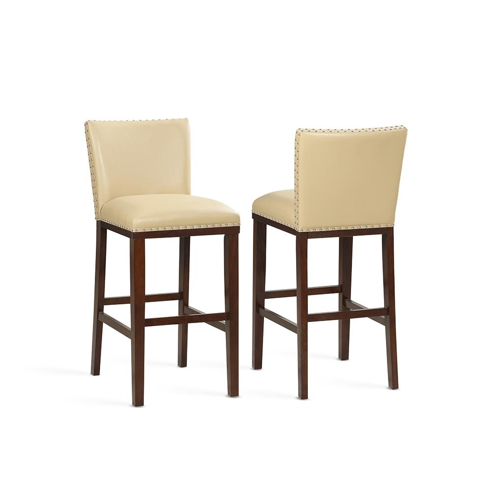 Steve Silver Tiffany 30 In Toffee Contemporary Bar Stool Set Of 2