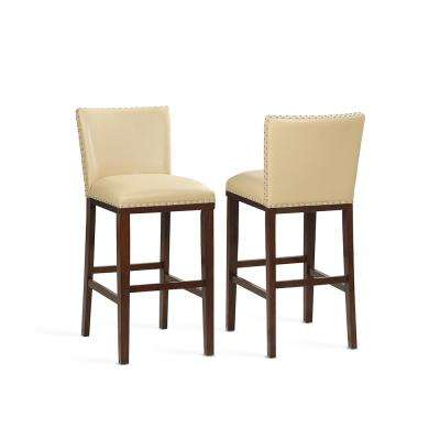 Tiffany 30 in. Contemporary Toffee Bar Stool (Set of 2)